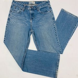 Levis Signature Womens Jeans 8 Short Blue Mid Rise